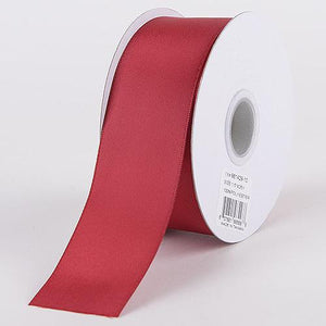 Burgundy - Satin Ribbon Double Face - ( W: 3/8 Inch | L: 25 Yards )