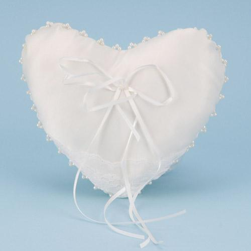 Ring Bearer Pillow Ivory ( 7 Inch x 8.5 Inch )