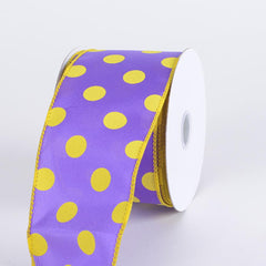 Satin Polka Dot Ribbon Wired