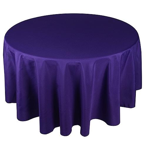 Purple- 108 Inch Round Tablecloths - ( 108 inch | Round )