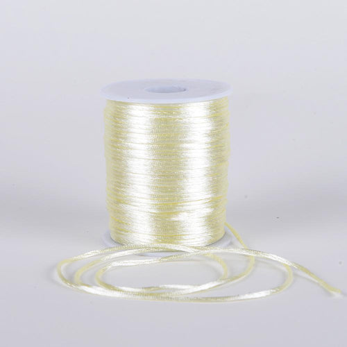 Ivory - 2mm Satin Rat Tail Cord - ( 2mm x 100 Yards )