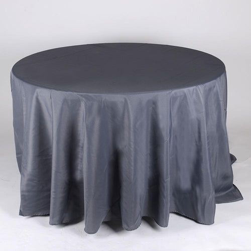 Charcoal- 120 Inch Round Tablecloths - ( 120 Inch | Round )