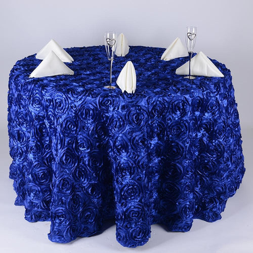 Royal Blue 120 Inch Rosette Tablecloths
