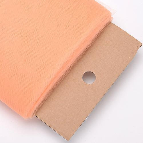 Peach 54 Inch Premium Tulle Fabric Bolt ( W: 54 inch | L: 40 Yards )