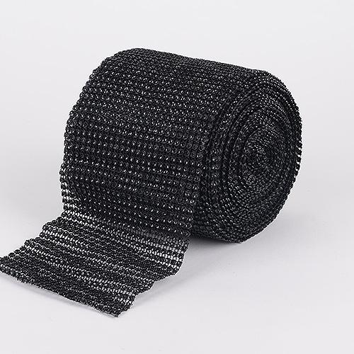 Black - Bling Diamond Rolls - ( 1-1/2 Inch x 10 Yards )