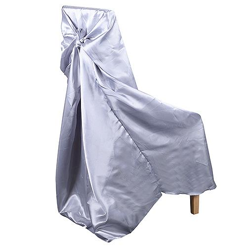 Silver - Universal Satin Chair Cover - ( Universal Satin Chair Cover )