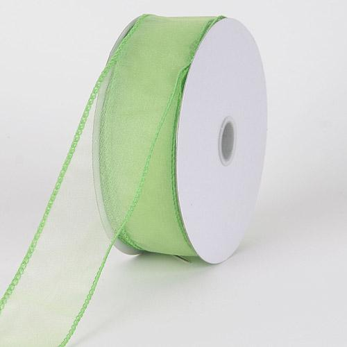 Mint - Organza Ribbon Thick Wire Edge 25 Yards - ( W: 1-1/2 inch | L: 25 Yards )