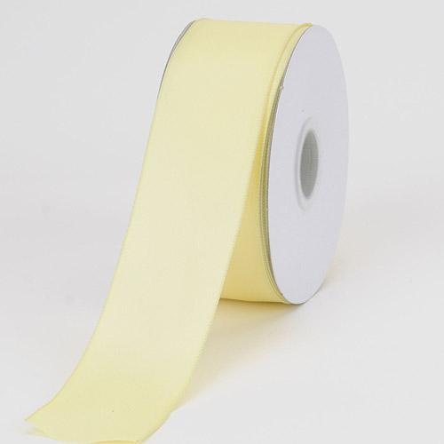 Baby Maize - Satin Ribbon Wire Edge - ( W: 1-1/2 inch | L: 25 Yards )