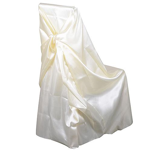 Ivory - Universal Satin Chair Cover - ( Universal Satin Chair Cover )