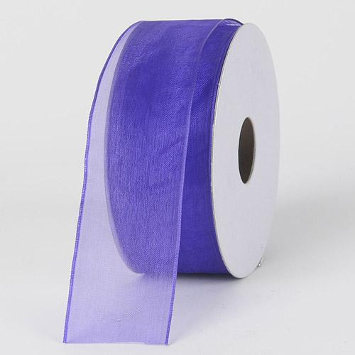 Purple Haze - Organza Ribbon Thin Wire Edge 25 Yards - ( W: 5/8 inch | L: 25 Yards )