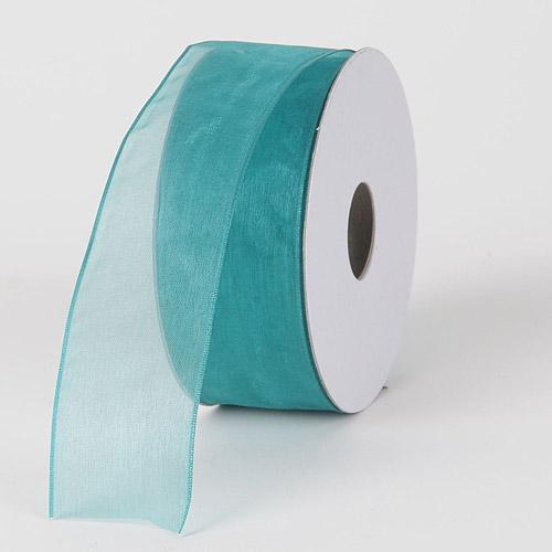 Teal - Organza Ribbon Thin Wire Edge 25 Yards - ( W: 5/8 inch | L: 25 Yards )