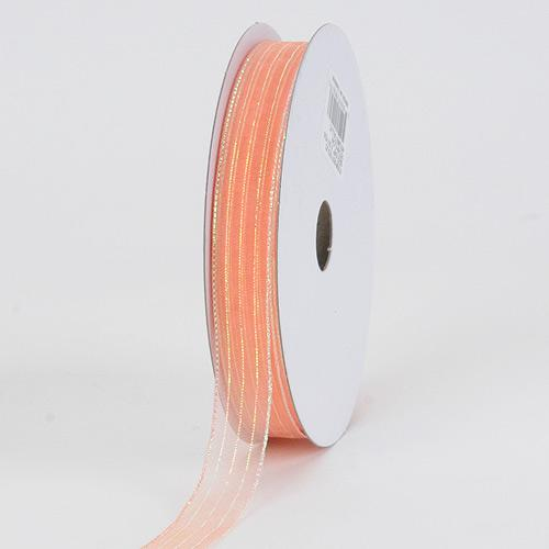Peach - Corsage Ribbon - ( W: 3/8 inch | L: 50 Yards )