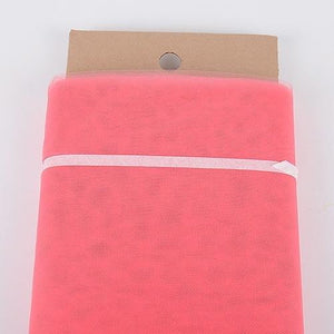 Coral - 54 Inch Premium Quality Nylon Tulle Fabric Bolt ( W: 54 inch | L: 40 Yards )