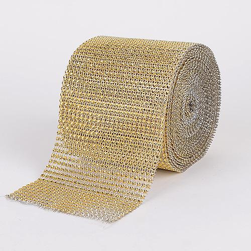 Old Gold - Bling Diamond Rolls - ( 4 Inch x 10 Yards )