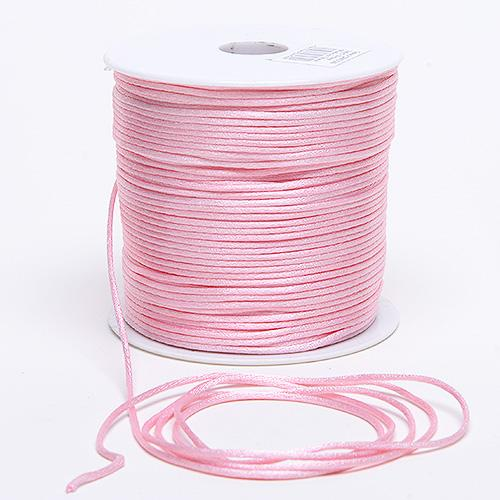 Light Pink - 3mm Satin Rat Tail Cord - ( 3mm x 100 Yards )