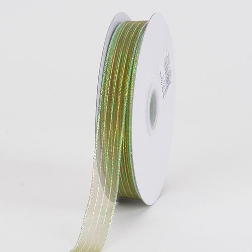 Corsage Ribbon Moss Iridescent ( W: 3/8 inch | L: 50 Yards )