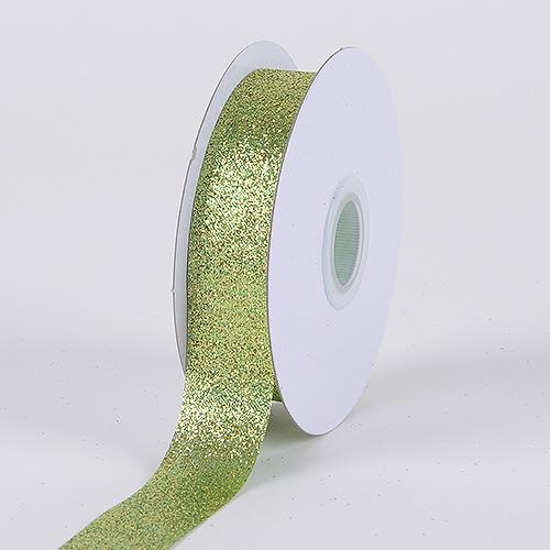Apple - Metallic Glitter Ribbon - ( 7/8 Inch 25 Yards )