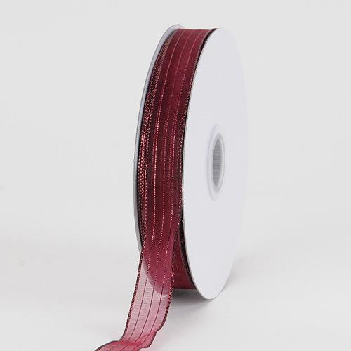 Burgundy - Corsage Ribbon - ( W: 3/8 inch | L: 50 Yards )