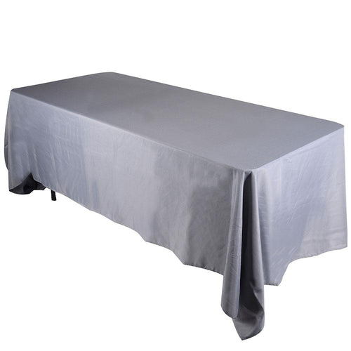 Silver- 60 x 102 Rectangle Tablecloths - ( 60 inch x 102 inch )