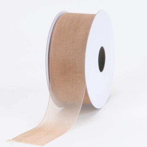 Toffee - Sheer Organza Ribbon - ( 7/8 inch | 25 Yards )