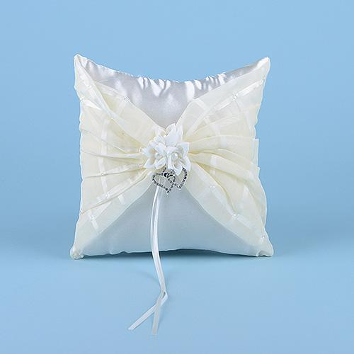Ring Bearer Pillow Ivory ( 7 Inch x 7 Inch )