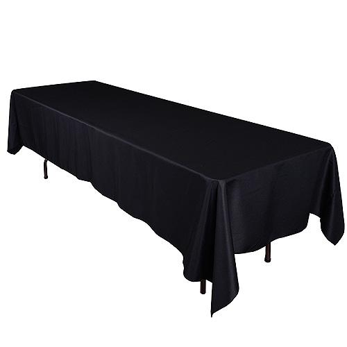 Black - 60 x 102 Rectangle Tablecloths - ( 60 inch x 102 inch )