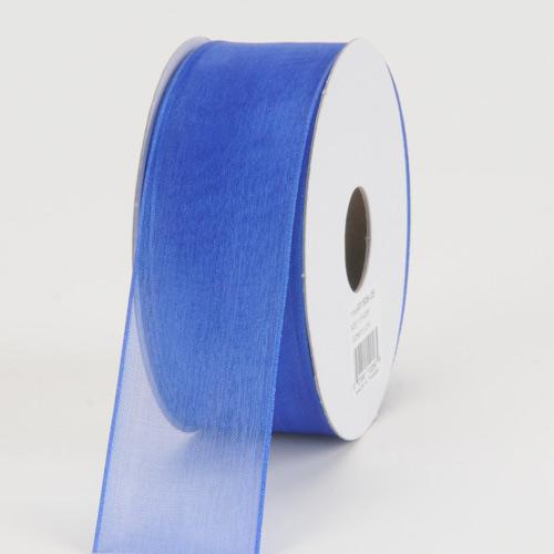 Royal - Organza Ribbon Thin Wire Edge 25 Yards - ( W: 5/8 inch | L: 25 Yards )