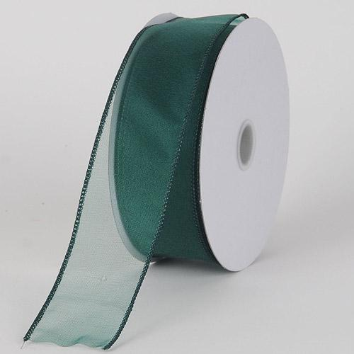Hunter - Organza Ribbon Thick Wire Edge 25 Yards - ( W: 1-1/2 inch | L: 25 Yards )