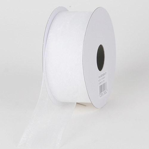 White - Sheer Organza Ribbon - ( 7/8 inch | 25 Yards )