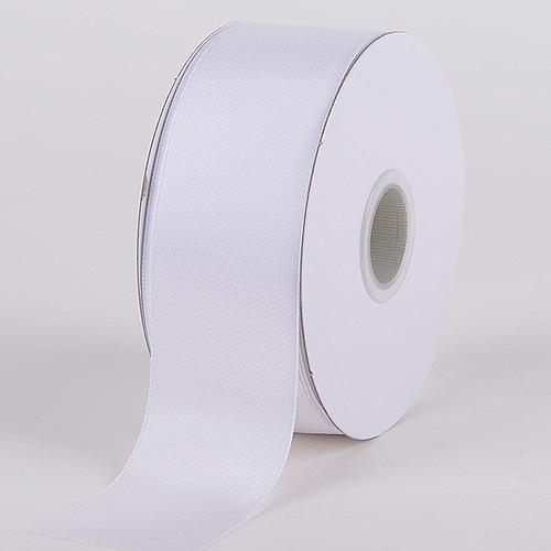 White - Satin Ribbon Wire Edge - ( W: 1-1/2 inch | L: 25 Yards )