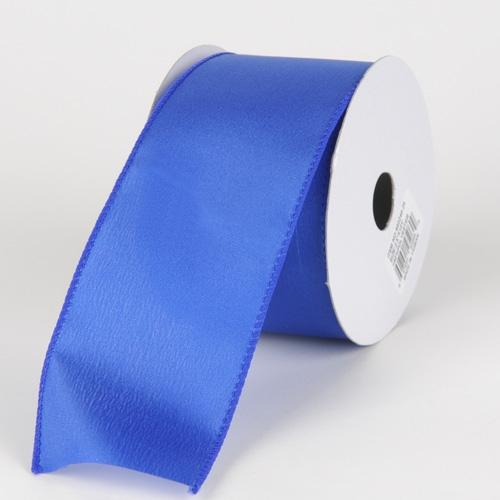 2-1/2 x 10 Yd Royal Blue Satin Ribbon Thick Wired Edge