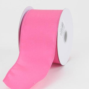 1-1/2 inch x 10 Yards Hot Pink Satin Ribbon Thick Wired Edge