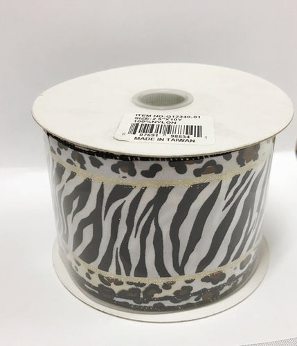 Animal Print Ribbon  ( 2-1/2 Inch x 10 Yards ) - Q1234001