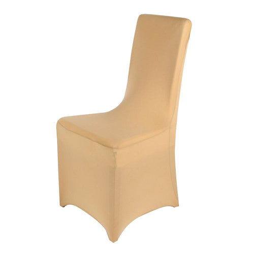 Champagne- Spandex Banquet Chair Cover - ( Spandex Banquet Chair Cover )