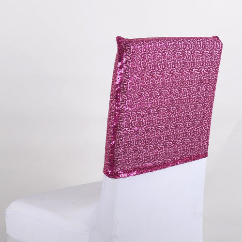 Fuchsia Duchess Sequin Chair Top Covers