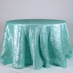 Pintuck Round Tablecloths