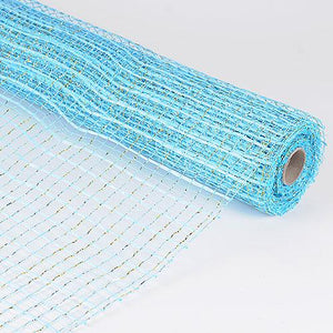 Turquoise  - Floral Oasis Mesh Wrap -  ( 21 Inch x 10 Yards )
