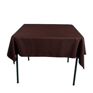 Chocolate Brown - 85 x 85 Square Tablecloths - ( 85 Inch x 85 Inch )