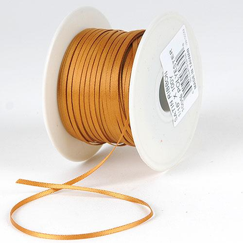 Old Gold Satin Ribbon 1/16 x 300 Yards - ( W: 1/16 inch | L: 300 Yards )