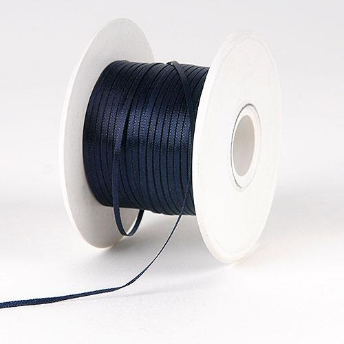 Black Satin Ribbon 1/16 x 300 Yards - ( W: 1/16 inch | L: 300 Yards )