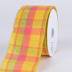 Checkered Wired Ribbon ( 1-1/2 Inch x 10 Yards ) - Q41250922