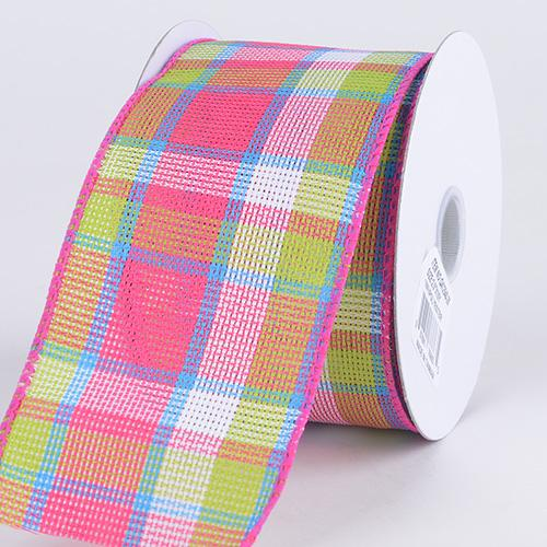Checkered Wired Ribbon ( 2-1/2 Inch x 10 Yards ) - Q41254028