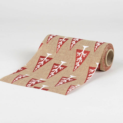 Natural -  Faux Burlap Roll ( W: 6 inch | L: 5 Yards ) - 960224GO