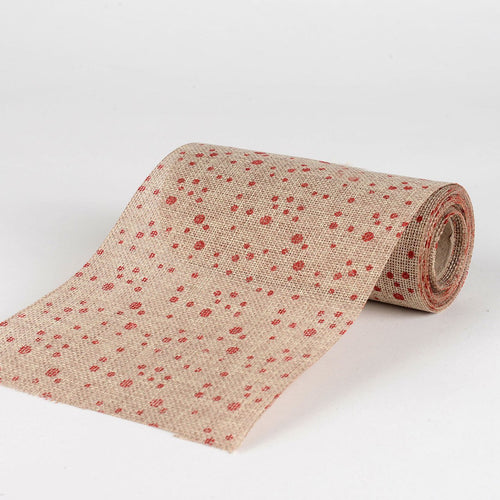 Natural -  Faux Burlap Roll ( W: 6 inch | L: 5 Yards ) - 960240RE