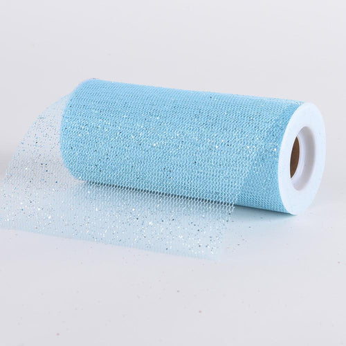 Light Blue - Premium Glitter Net - ( W: 6 Inch | L: 10 Yards )