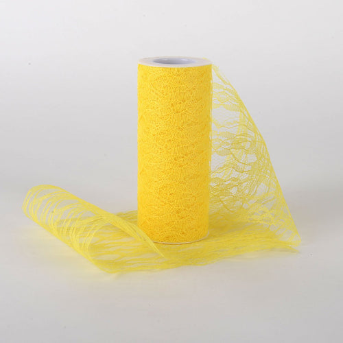 6 Inch Lace Roll - Yellow
