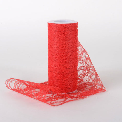 6 Inch Lace Roll - Red