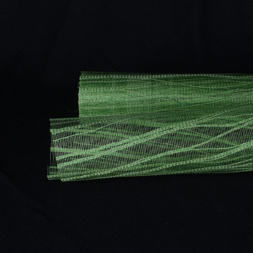 Emerald  - Metallic Twine Mesh Wrap -  ( 21 Inch x 6 Yards )