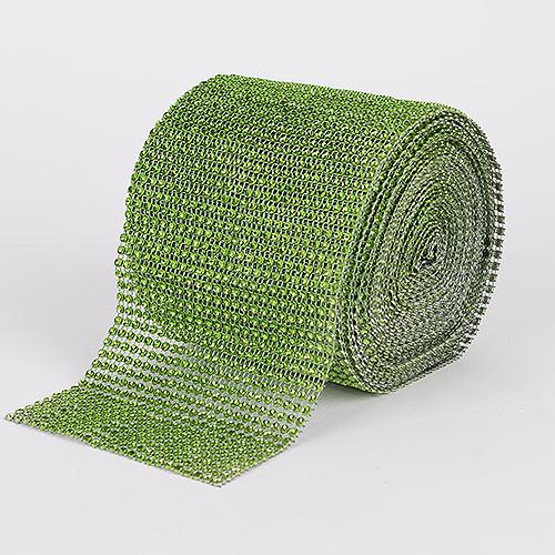 Apple Green - Bling Diamond Rolls - ( 1-1/2 Inch x 10 Yards )
