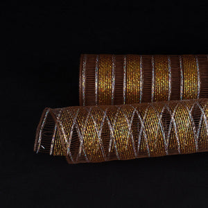 Chocolate Brown - Deco Mesh Eyelash Metallic Stripes